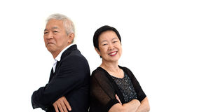 Asian senior partner dress in formal attire. Love life family bu Stock Image