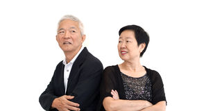 Asian senior partner in formal attire. Love life family business Royalty Free Stock Photography