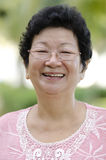 Asian senior woman Stock Image