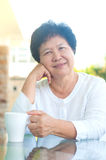 asian senior woman Стоковое Фото