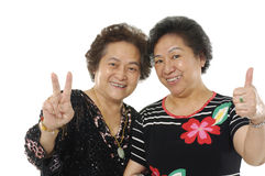 Asian senior women Royalty Free Stock Photo
