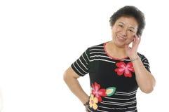Asian senior women Stock Image