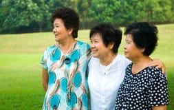 Asian senior women Stock Photos