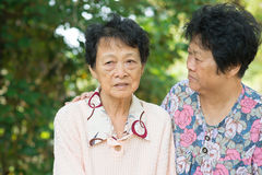 Asian senior women lifestyle Royalty Free Stock Photos