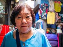 Asian Senior women Shopping in Chatuchak Weekend Market Bangkok. Asian Senior woman Shopping in Chatuchak Weekend Market Bangkok Thailand stock image