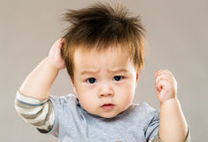 Asian serious kid Royalty Free Stock Image