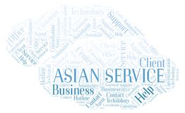 Asian Service word cloud royalty free illustration