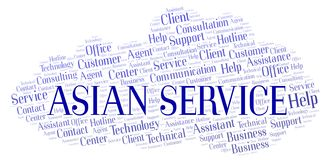 Asian Service word cloud. royalty free illustration