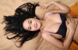 Asian sexy young female Stock Images