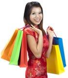 Asian shopping Stock Photography
