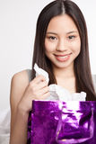 Asian shopping girl Royalty Free Stock Photo