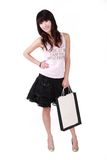 Asian shopping girl Stock Images