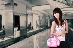 Asian shopping girl Stock Photography