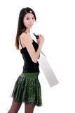 Asian shopping girl Stock Photos