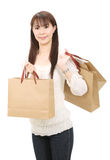 Asian shopping woman Royalty Free Stock Image