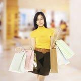Asian Shopping Woman Stock Photography