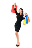 Asian shopping woman Royalty Free Stock Images