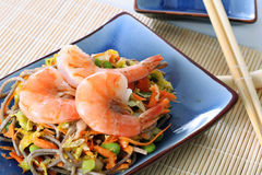 Asian shrimp dinner Royalty Free Stock Photos