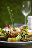 Asian shrimp salad. In restuarant Royalty Free Stock Image