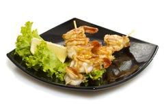 Asian shrimp shashlik isolated Royalty Free Stock Images