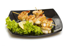 Asian shrimp shashlik isolated Stock Photography