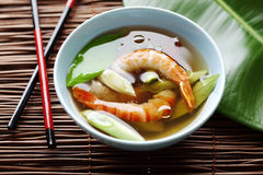 Asian shrimp soup Royalty Free Stock Images