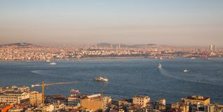 Asian side of Istanbul with bosphorus cruises Stock Images