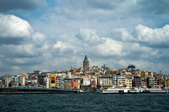 Asian side of Istanbul and Bosphorus sea Royalty Free Stock Image