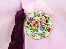 Asian silk embroidery clothes Royalty Free Stock Photo