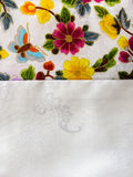 Asian silk embroidery flowers Stock Photos