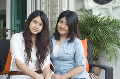 Asian sisters Royalty Free Stock Photo