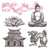 Asian Sketch Set Stock Image