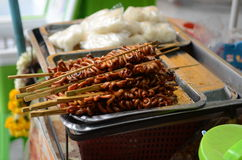 Asian skewers in Bangkok Royalty Free Stock Images