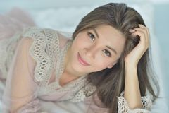 Skin care model Royalty Free Stock Photos