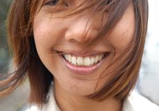Asian Smile Stock Photo