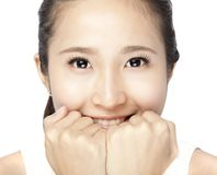 Asian  smiling Woman Face Stock Photography