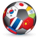 Asian soccer ball stock photography