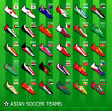 Asian soccer teams Royalty Free Stock Photos