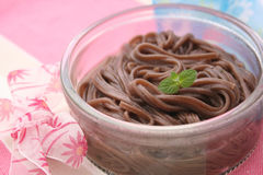 Asian somen noodles. Some cooked asian somen noodles stock photography