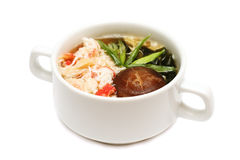 Asian soup with crab meat Royalty Free Stock Photos