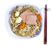 Asian soup noodles Royalty Free Stock Photo