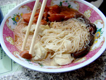 Asian soup noodles Royalty Free Stock Images