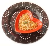 Asian soup with noodles Royalty Free Stock Photo