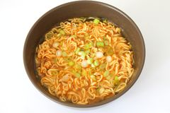 Asian soup with noodles Stock Images