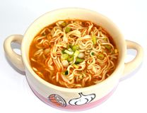 Asian soup with noodles Royalty Free Stock Images
