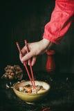 Asian soup ramen ready to eat Stock Photo