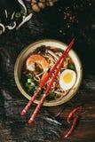 Asian soup ramen with shrimp Stock Photos