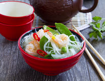 Asian soup with shrimp Royalty Free Stock Photography
