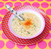 Asian soup. Some asian soup with mie noodles stock image