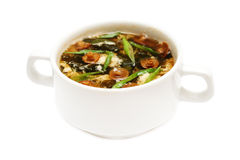 Asian soup on white Stock Image
